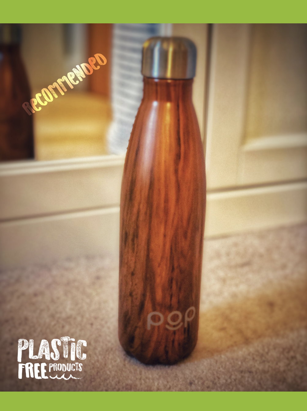 POP Water Bottle - Our favourite plastic free product that we've recently tried is the POP Water Bottle. It keeps your drink cold for 24hr, or warm for 12hrs. It's Sweat & Leak-Proof has a narrow mouth & is BPA Free.This has totally replaced my buying of plastic bottles to take water to the Gym or work and it does exactly as you need it. It makes me feel good knowing that my consumption of fresh water is high whilst removing the plastic waste that I was contributing too!We've used the 500 ml bottle which is more than plenty but its also available in a 750 ml container and in 3 Colours.We've found Amazon to be the most accessible place to get it with their reliability and confidence in buying many products from them.