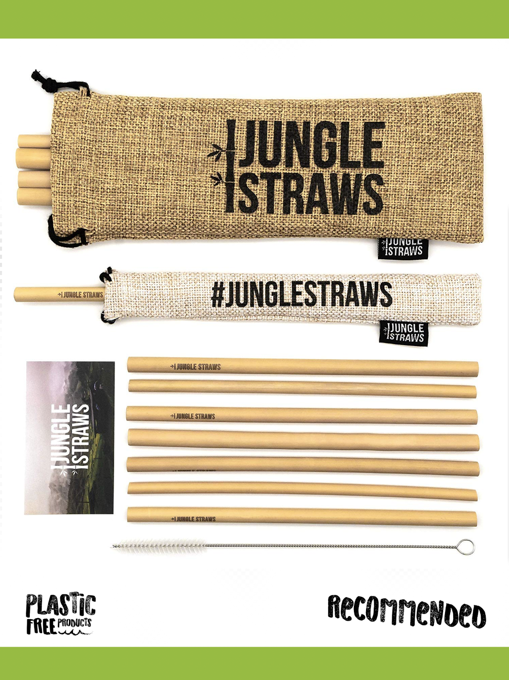 Jungle Straws Reusable Bamboo Drinking Straws - We used to give the kids straws all the time, these have replaced them in our household. They are 100% Natural & Eco Friendly, Biodegradable & Organic. Handy too when you buy off Amazon they Include a Cleaning Brush, Single Straw Case & Storage Bag. Reuseable? Yes.. Dishwasher Safe and of course Plastic Free! We recommend buying off Amazon with their reliable service and for finding the best price.