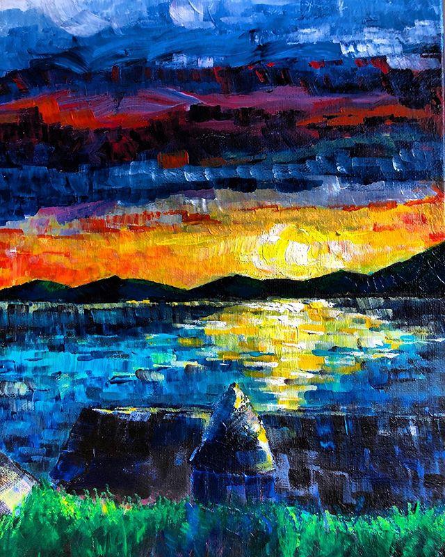 #harlech #harlechbeach #harlechbay #northwales #beachlife #painting #landscapepainting