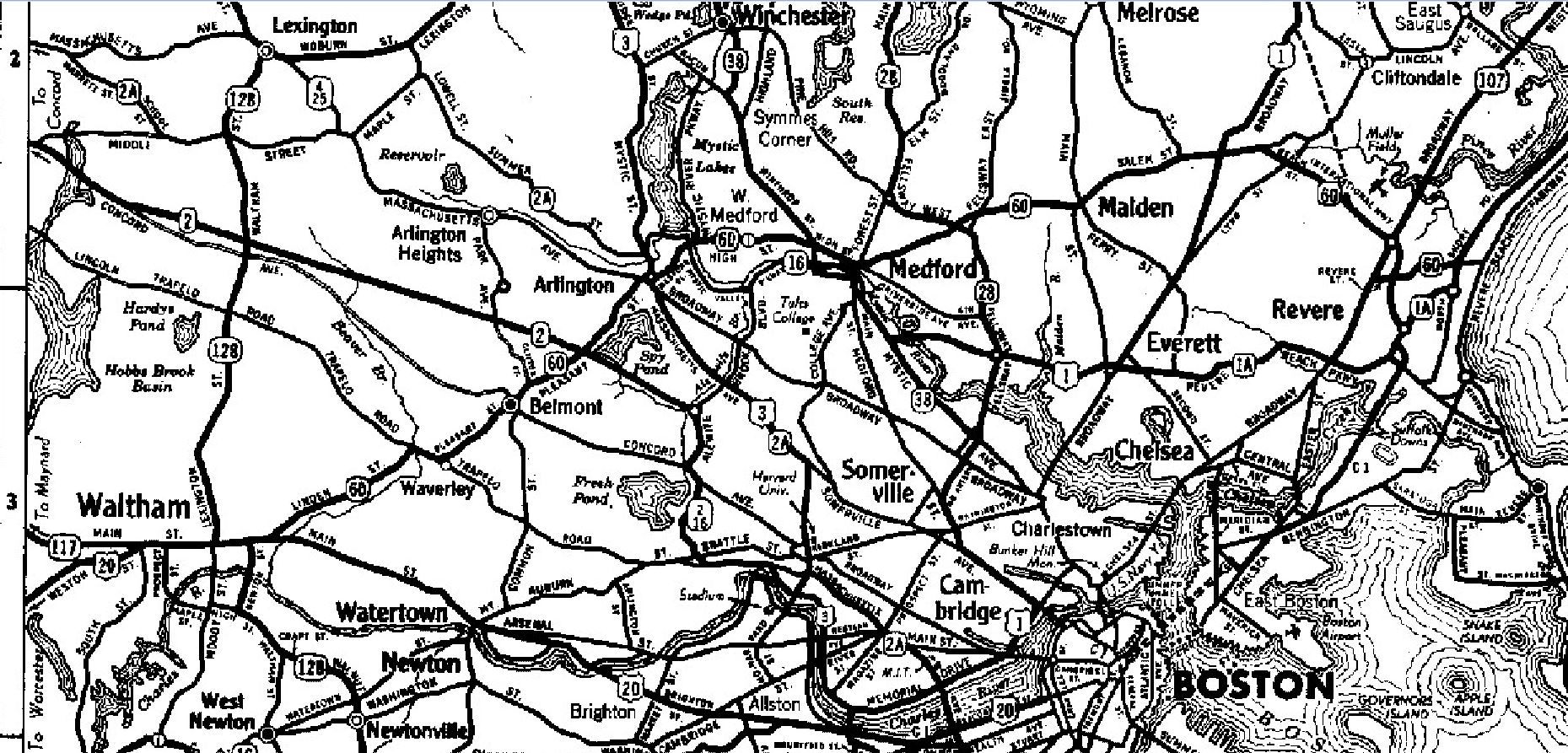 1937 Road Map Zoom View