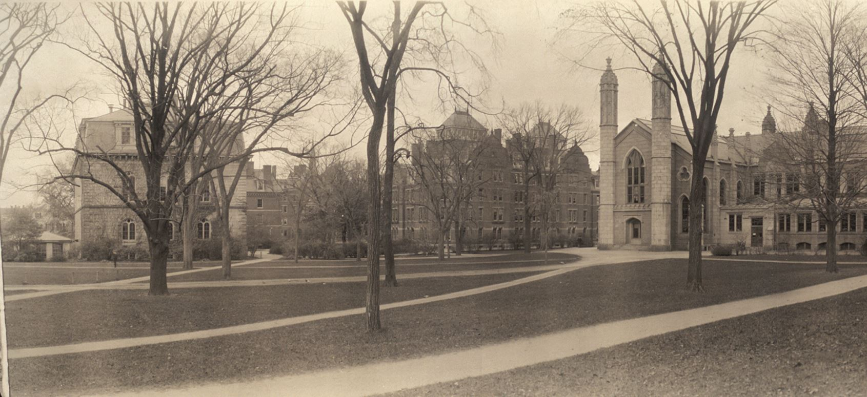 Weld Hall, Havard Yard, 1910, Haines Photo Co. (Source: Library of Congress)
