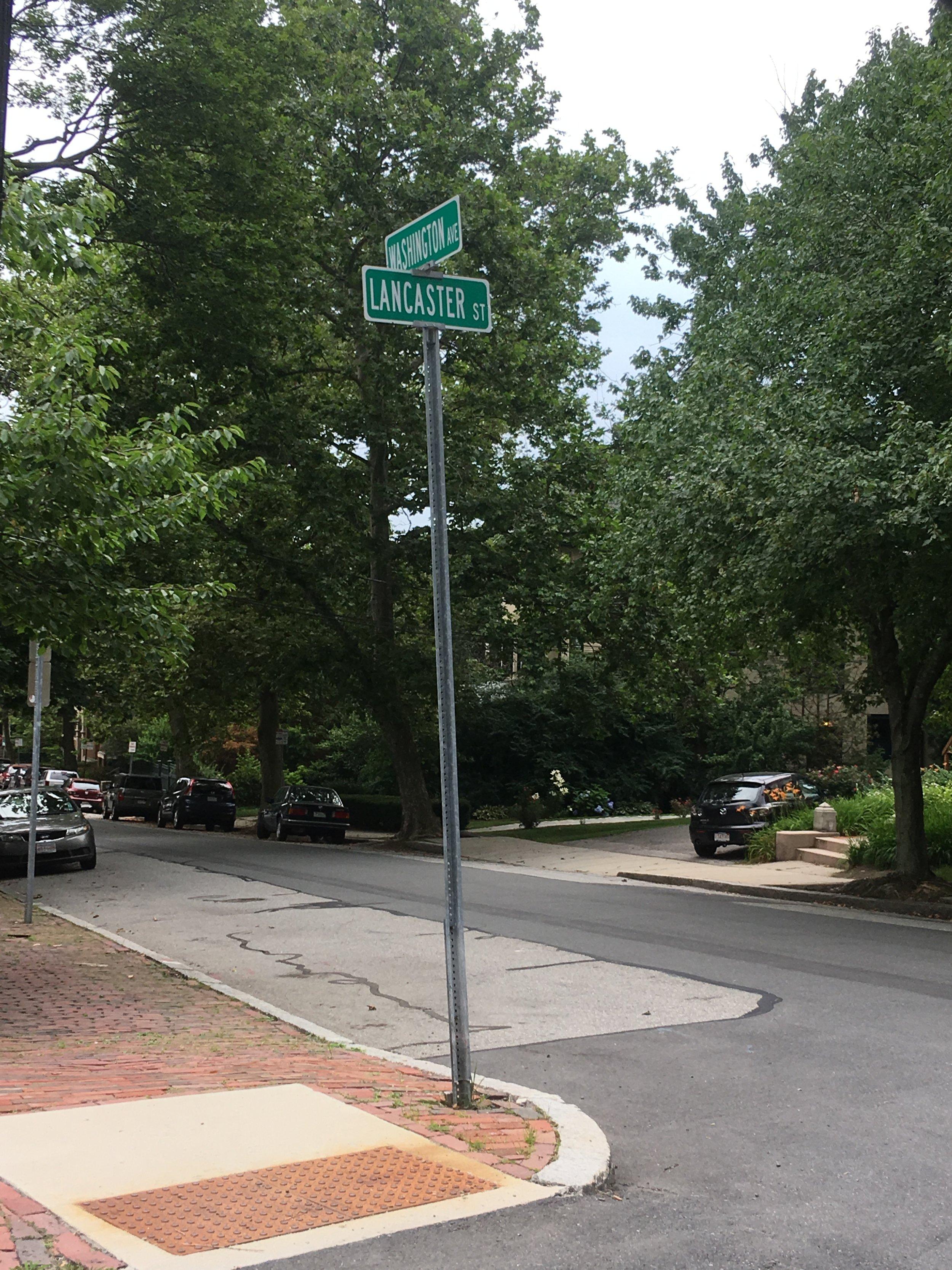Neighborhood behind Porter Square area