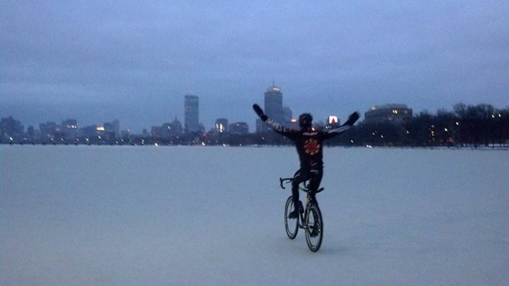 On The Frozen Charles River. Source: Reddit