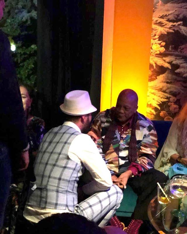 It was a great honour meeting @quincydjones Jones last night. He is a living legend and a very gracious man. To think of all the stories he has lived with other great artists. In the words of Wayne and Garth: 'We're not worthy! We're not worthy!' #ibisMUSIC @ibishotels #mjf19 @montreuxjazzfestival #quincyjones