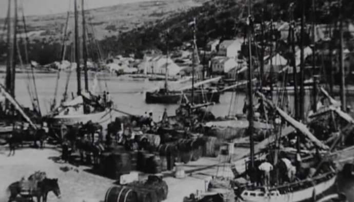 wine boats loading up wine for export, c. 1904