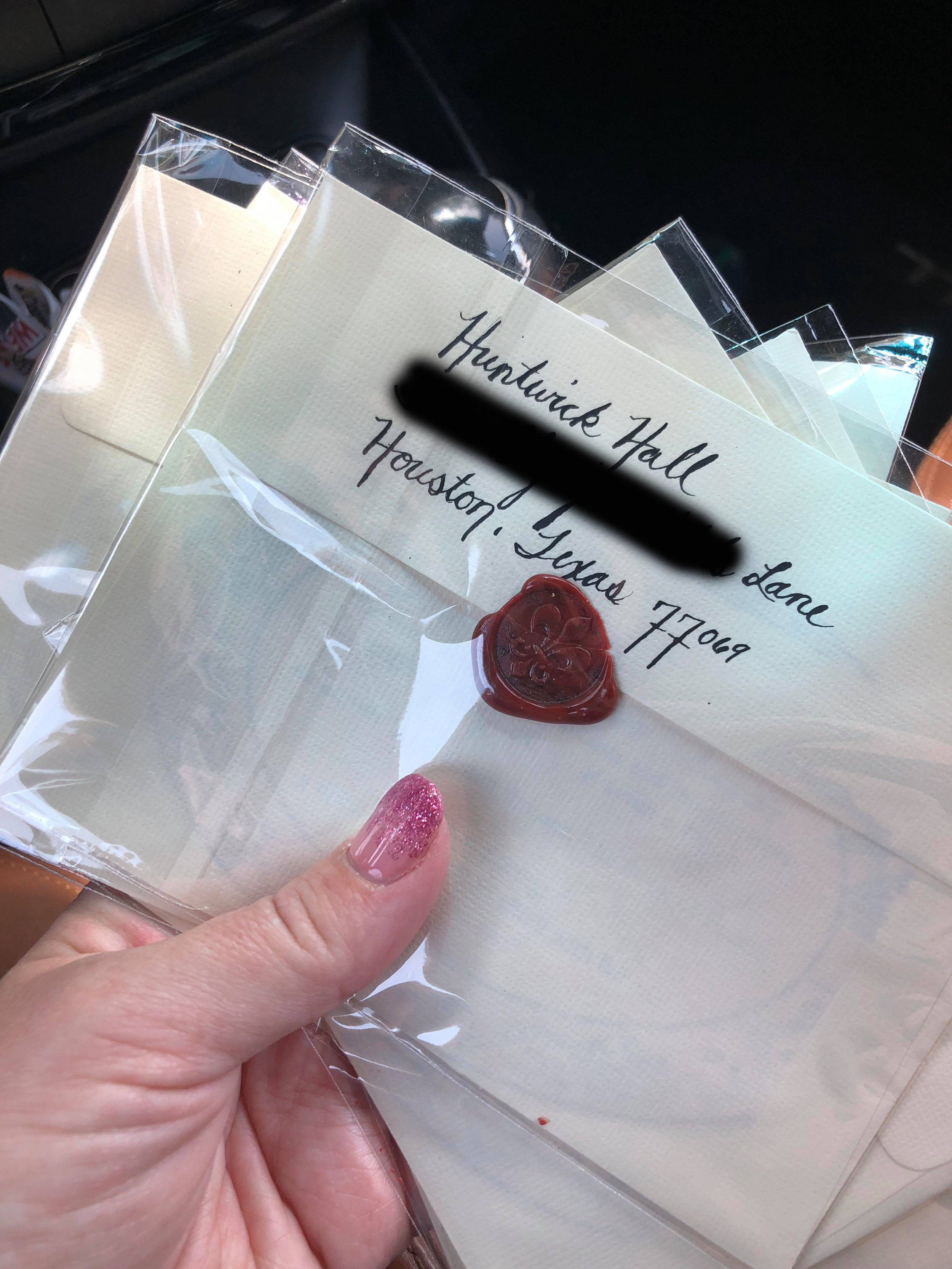 If you really want to up your Invitation Game… - Ink and paper, handwritten, PLUS wax sealed…because you fancy