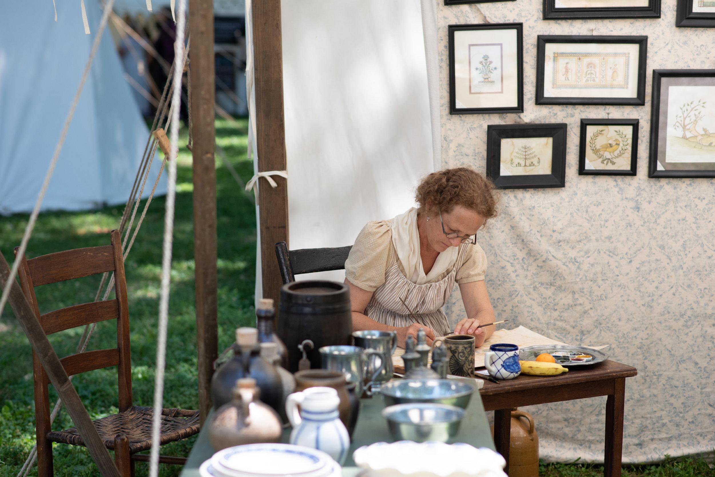 Jane Austen Festival Louisville Kentucky 2019 Regency Federal watercolor artist