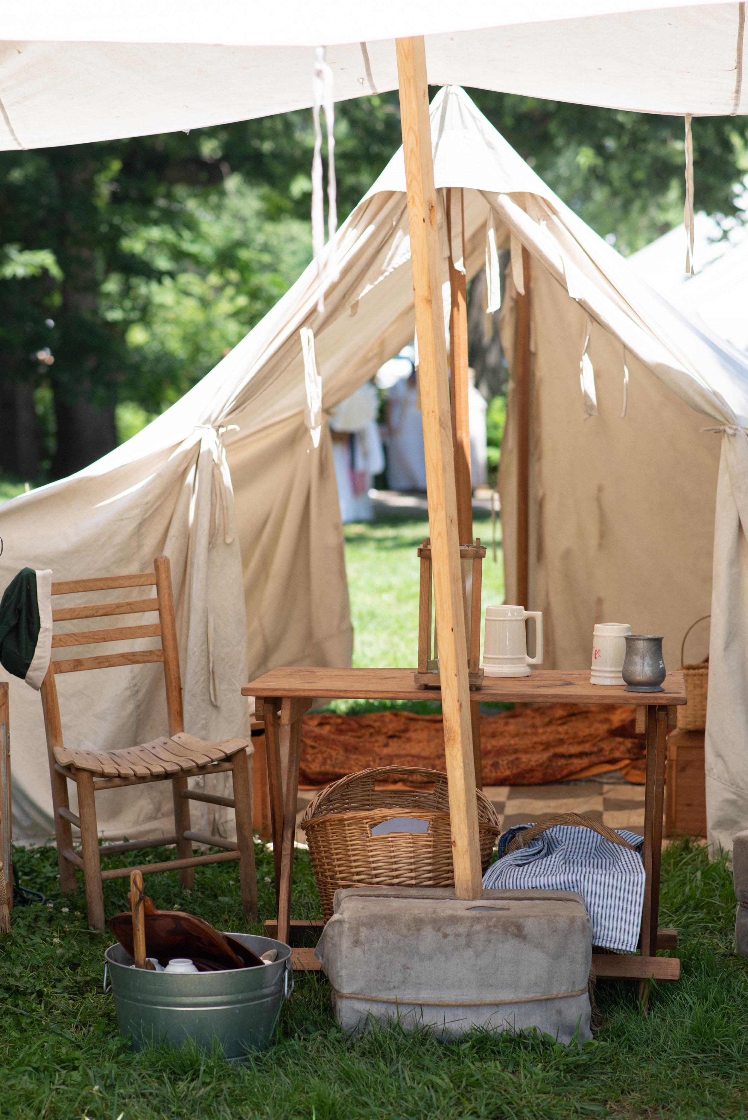 Jane Austen Festival Louisville Kentucky 2019 Federal Tent Reenactment tent