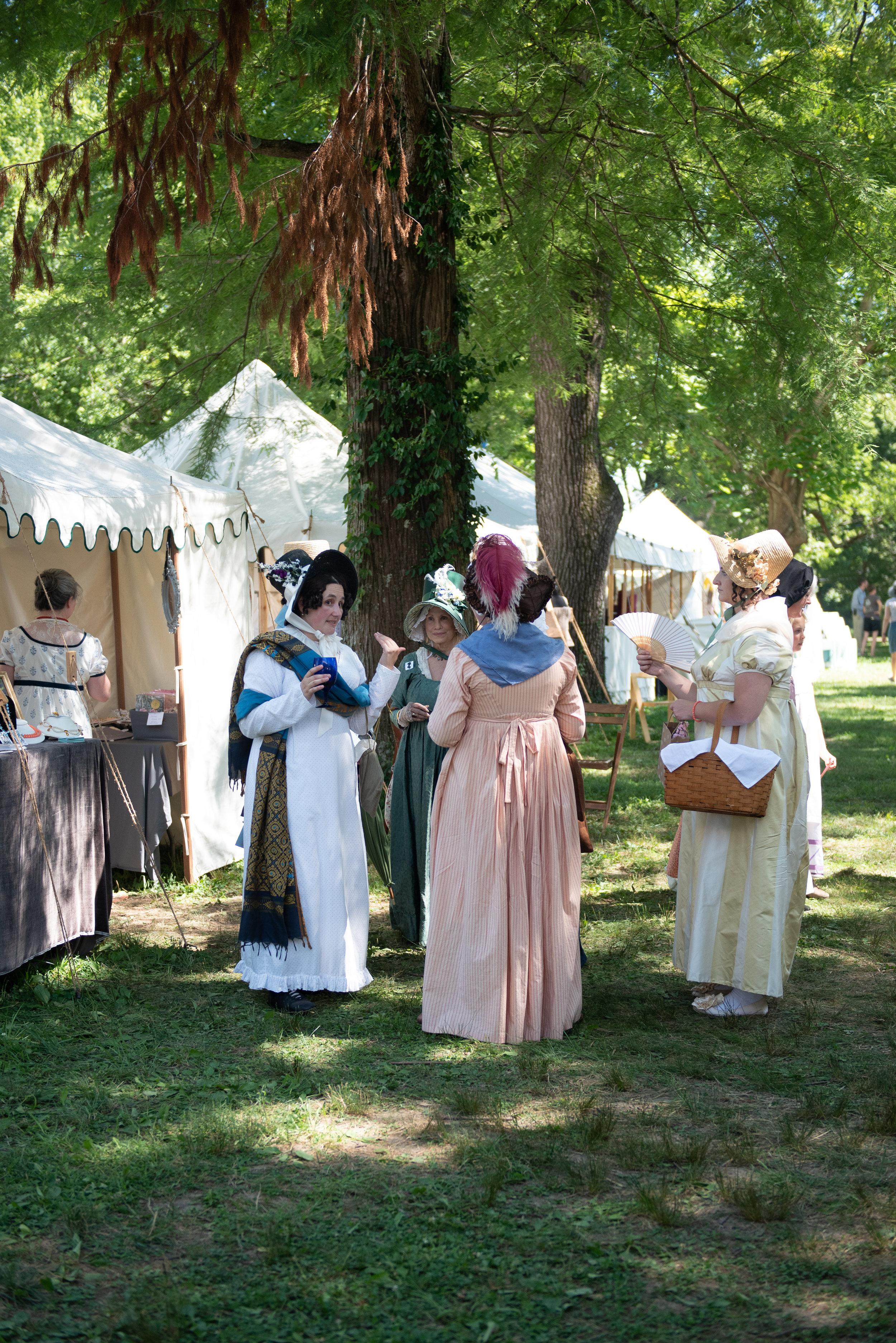 Jane Austen Festival Louisville Kentucky 2019 Regency Federal Dress fashion Bonnet hat