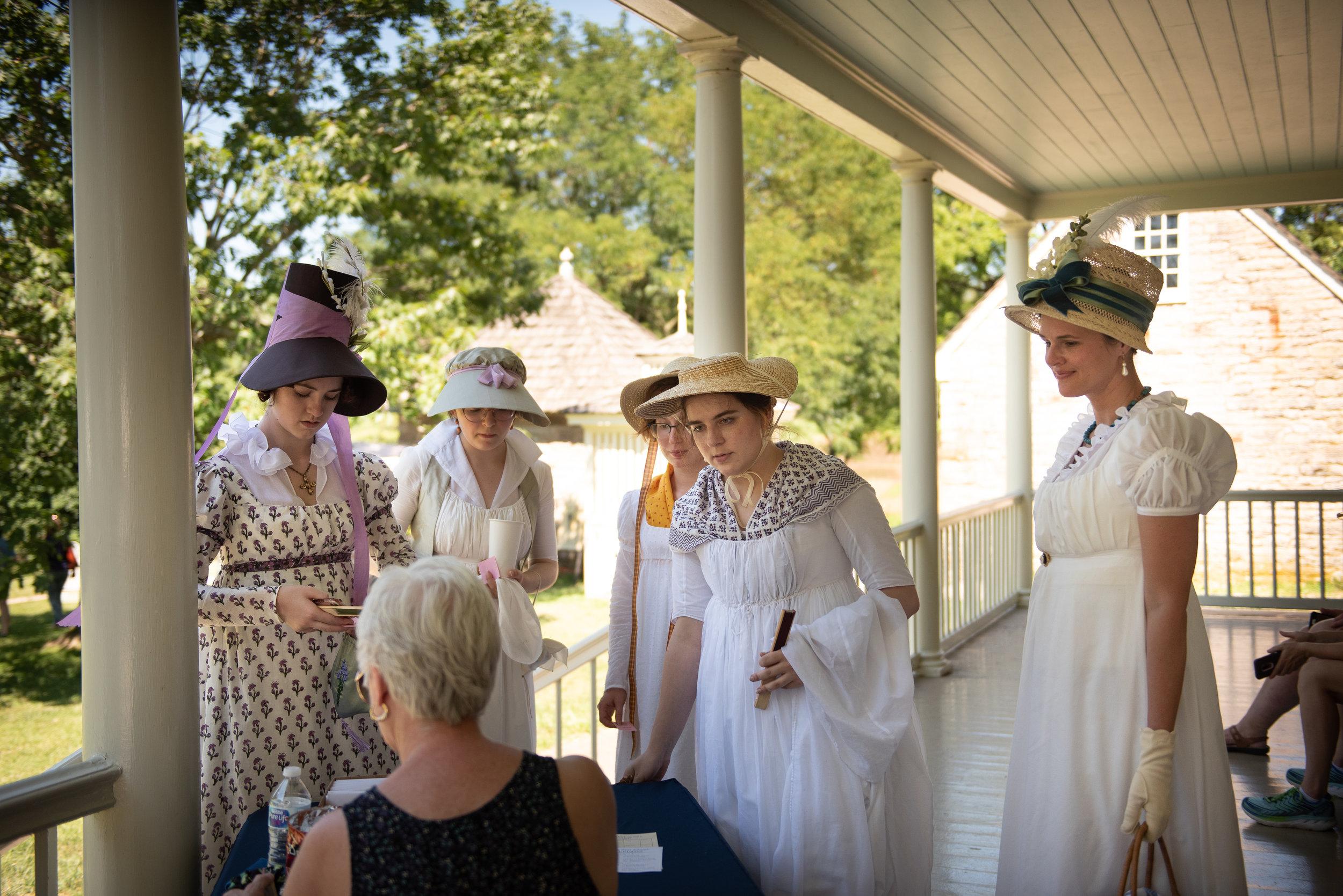 Jane Austen Festival Louisville Kentucky 2019 Regency Federal Dress Fashion Bonnet