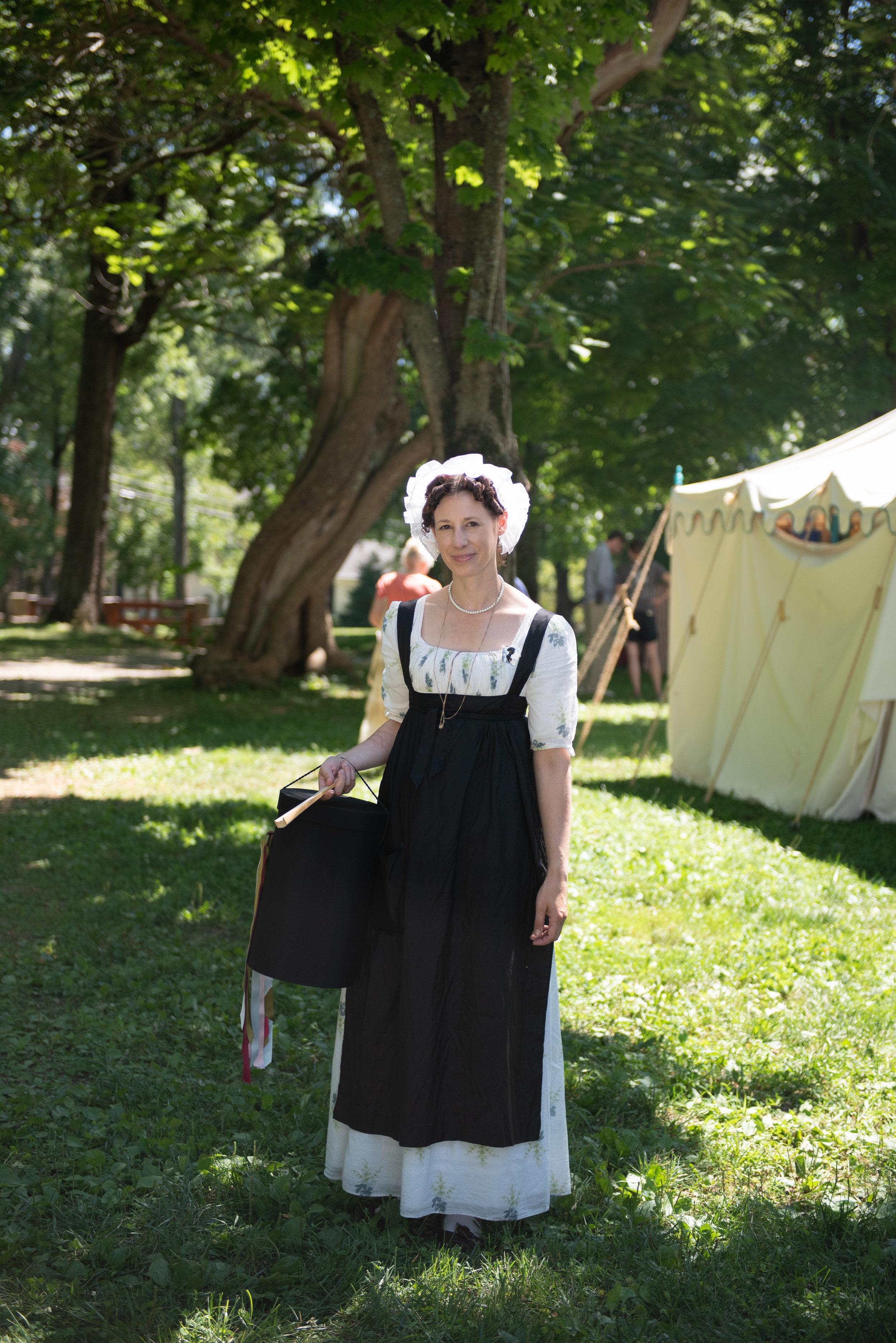 Jane Austen Festival Louisville Kentucky 2019 Regency Apron Cap