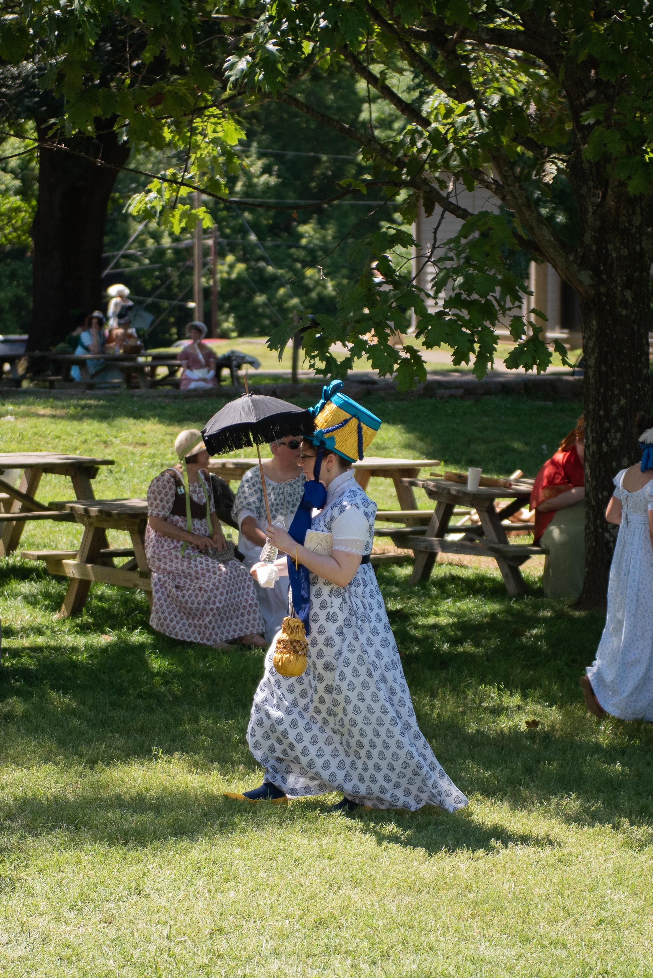 Jane Austen Festival Louisville Kentucky 2019 Regency Hat parasol federal era