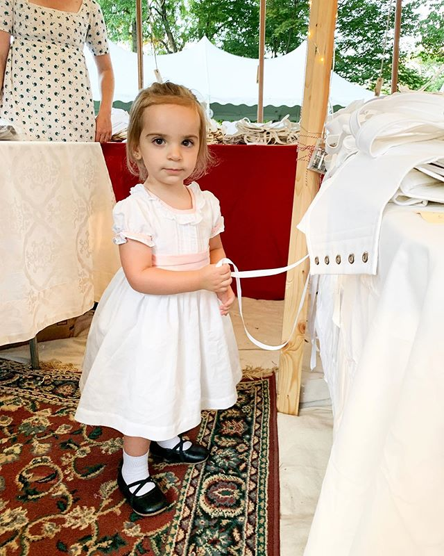 This little angel thought she was going to get her first pair of @redthreaded stays at #janeaustenfestivallouisvillekentucky 💗 #janeaustenfestival #janefest2019 #janeite #janeausten #janeaustenfan
