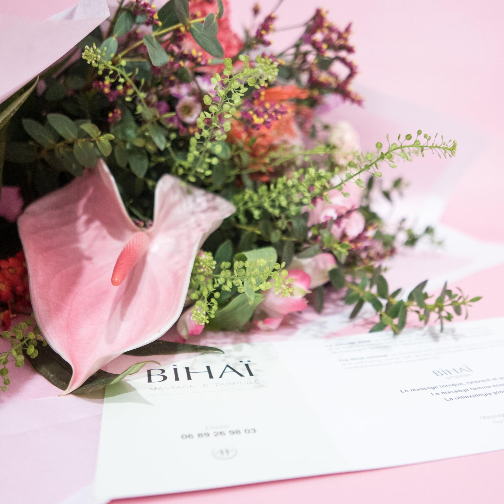 Bihai Massage - Un massage accompagné d'un bouquet pour la St Valentin