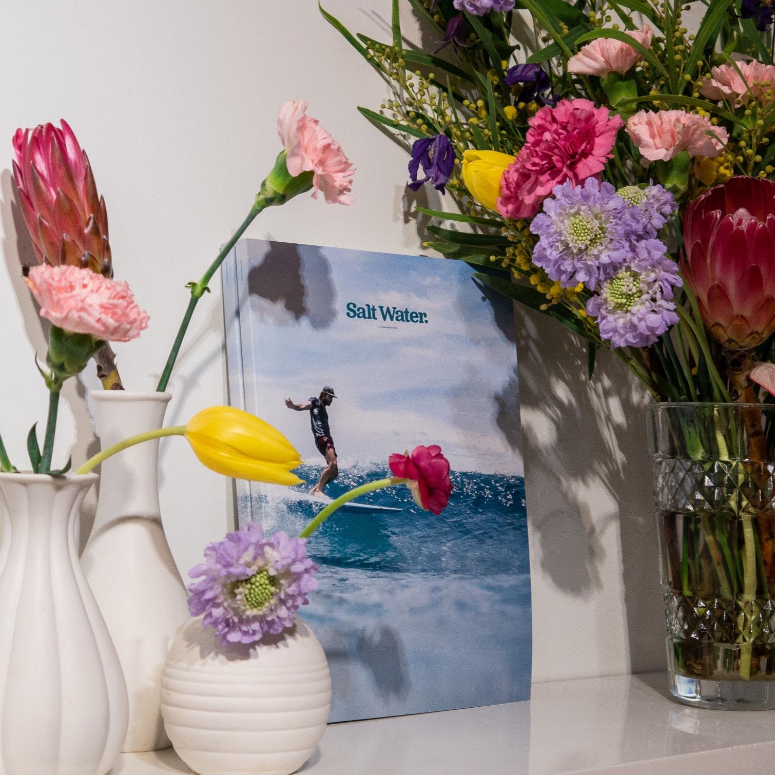 Salt Water - Scénographie & bouquets en libre service