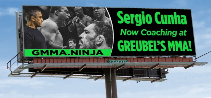 World Renown MMA trainer of multiple UFC Champions, SERGIO CUNHA, is now calling GREUBEL's MMA home!