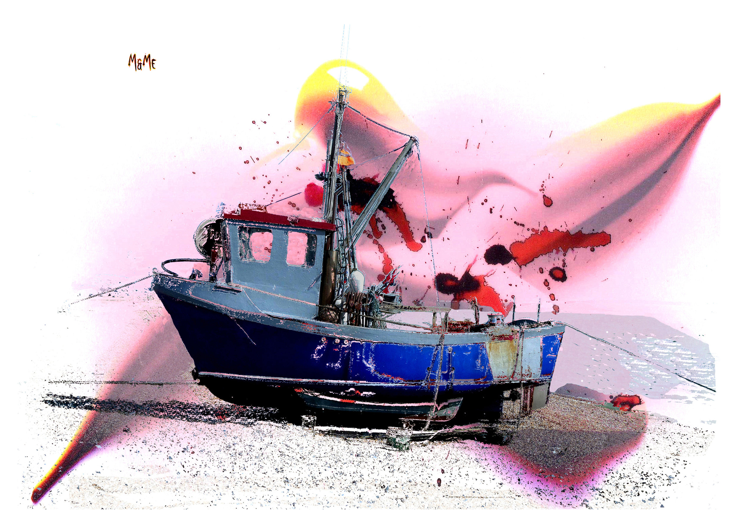 'Pink' Hythe Fishing Boat