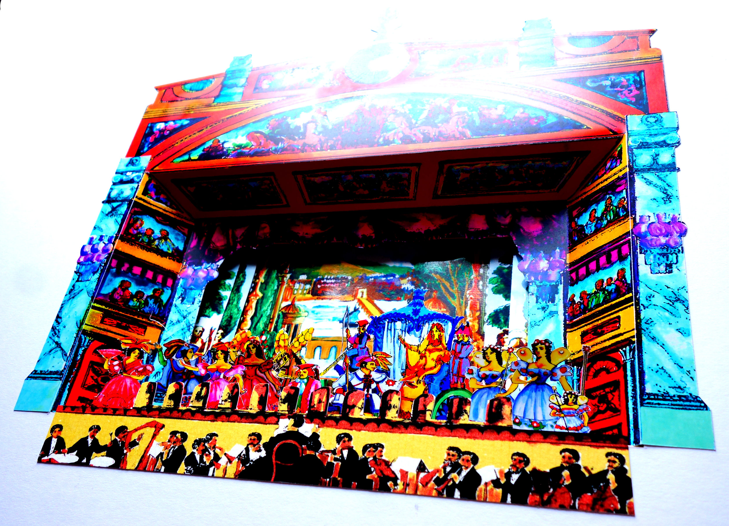 Toy Theatre - Framed Theatre Dioramas. This series is based on the Cinderella pantomime, made famous by Pollock's Toy Theatre.