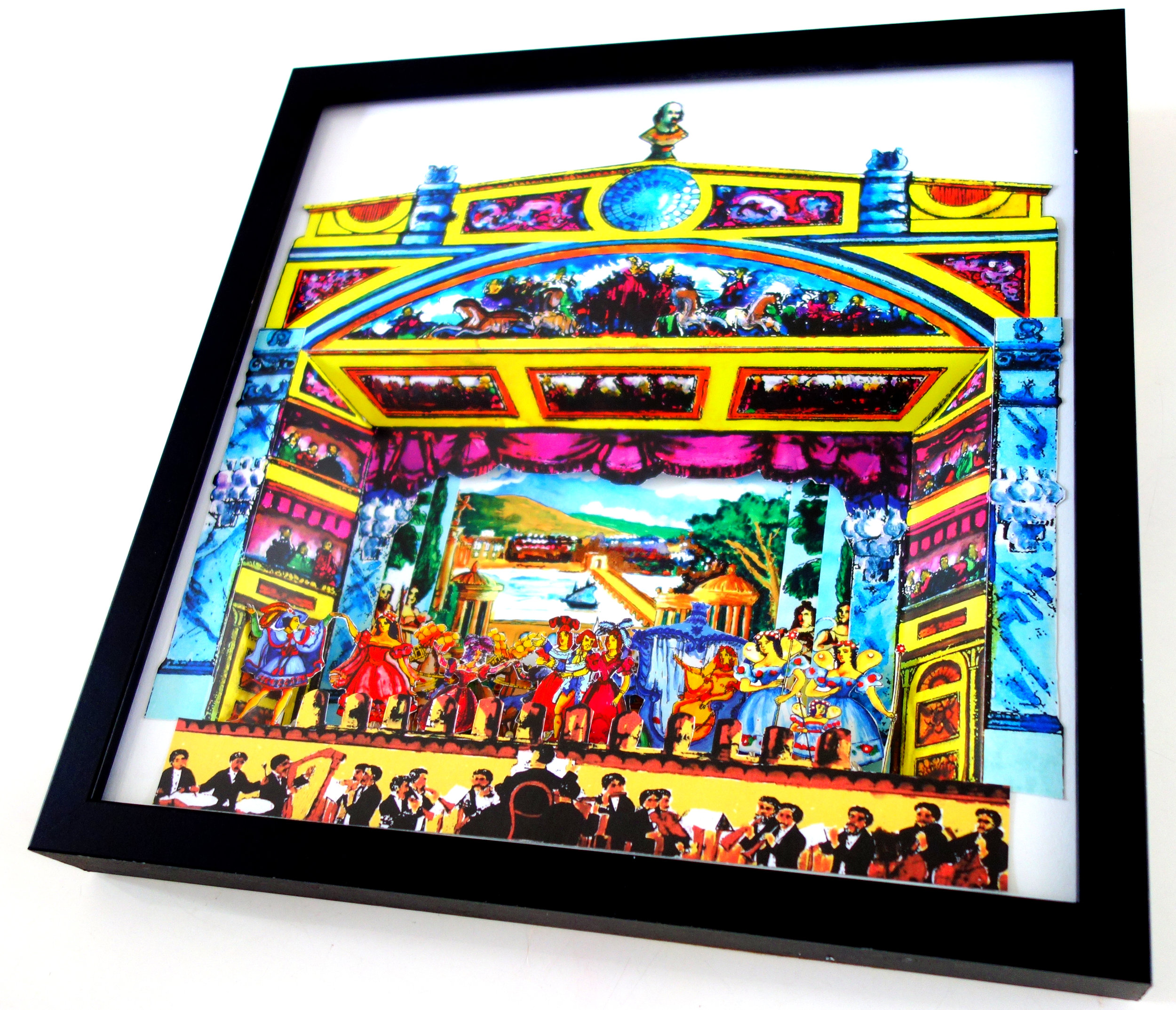 Framed Theatre Dioramas - This series is based on the Cinderella pantomime, made famous by Pollock's Toy Theatre.