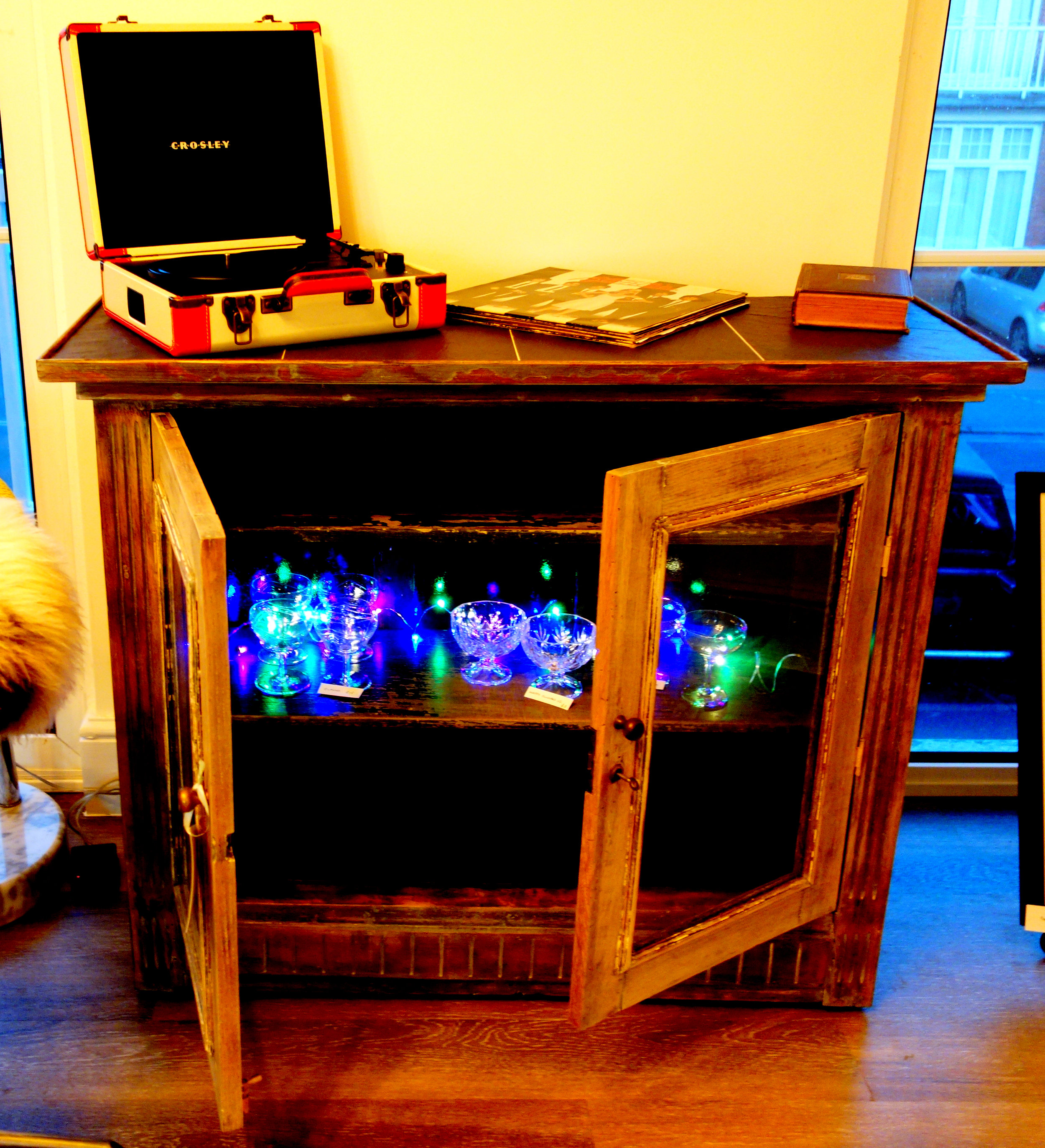 Brocante - Cabinets and Boxes we have made. Lighting and Ornaments we have collected