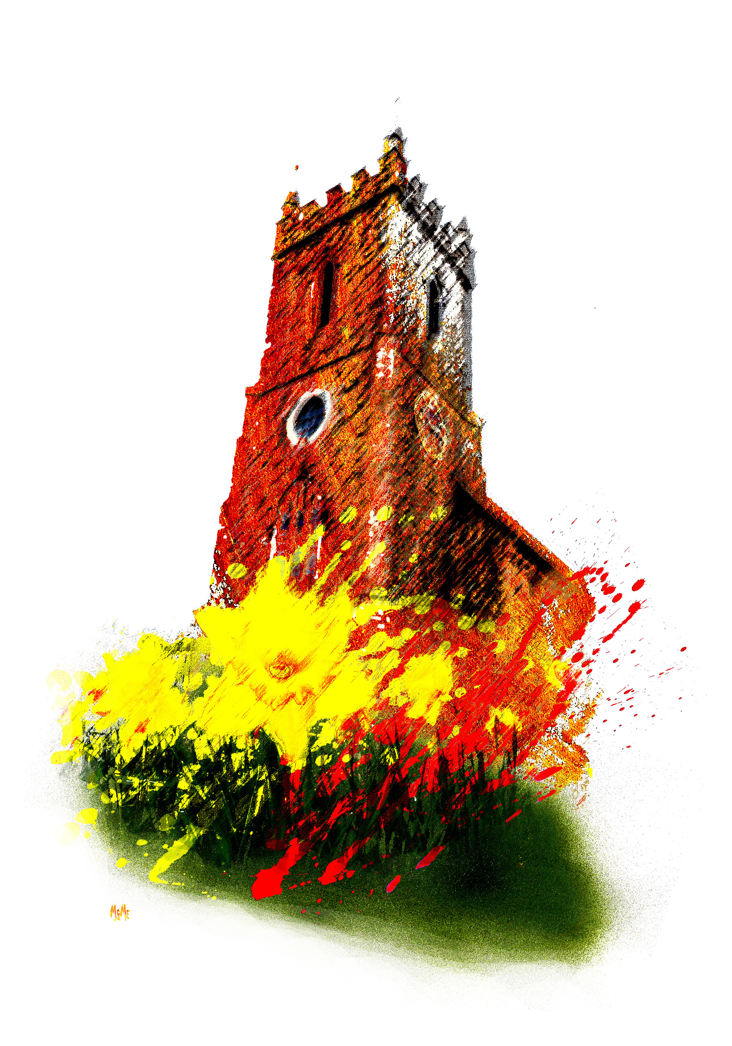 Daffadills at Lent, St Leonards Church Hythe