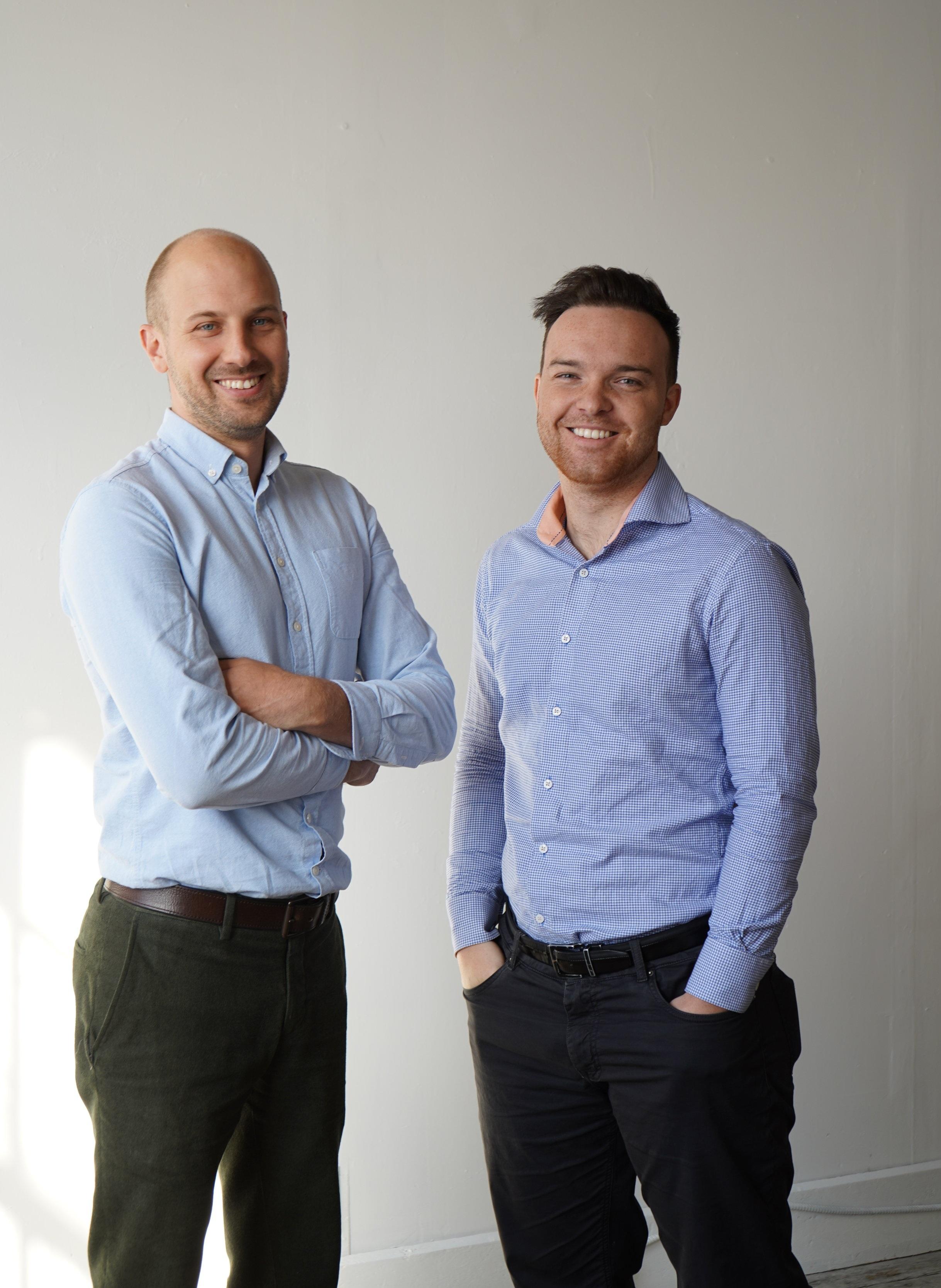 Eddie Obeliunas and Matthew Jaglowitz, founders of Exactus Energy.