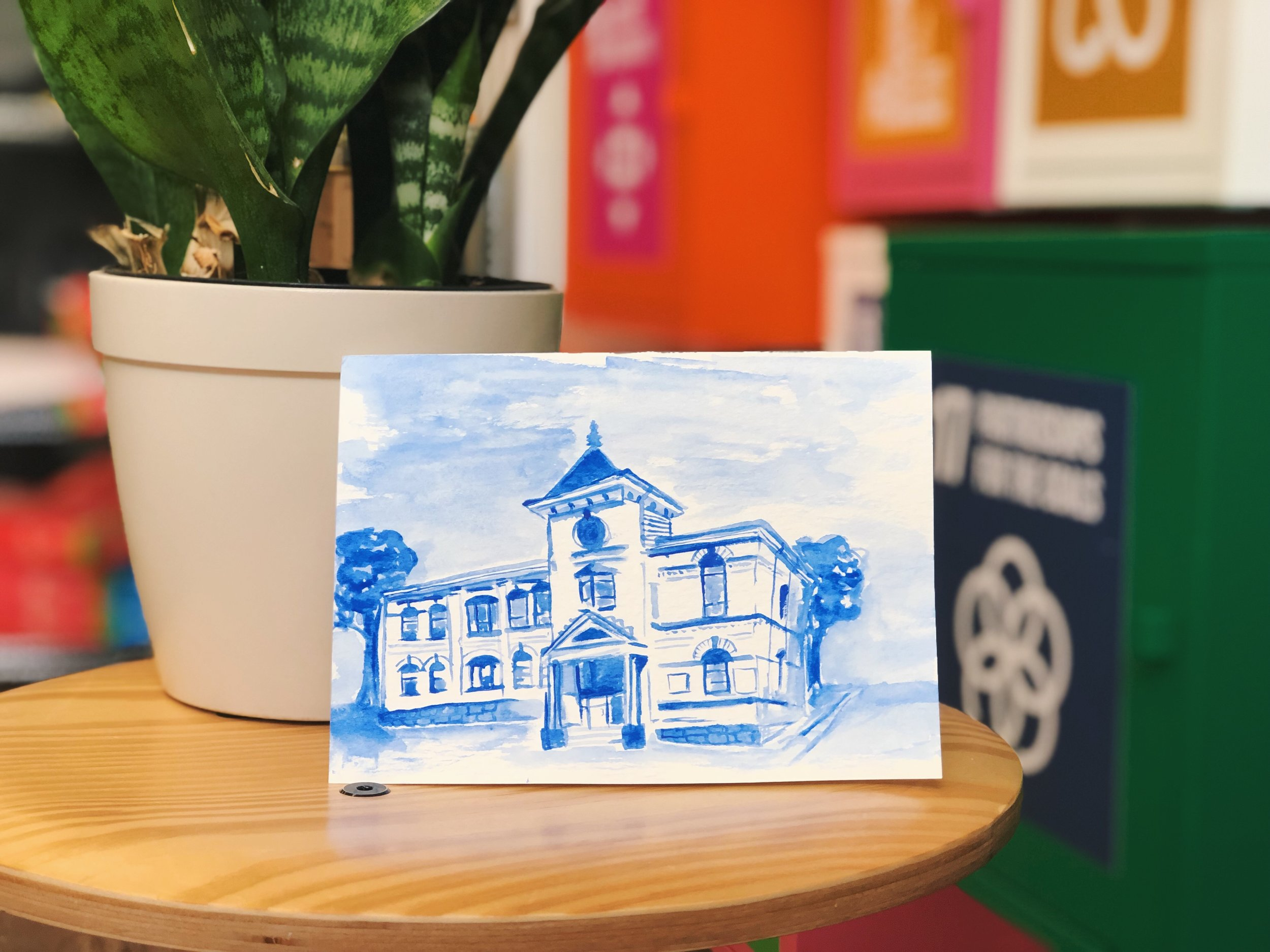 Thanks to Maggie Miland for this lovely painting of our office!
