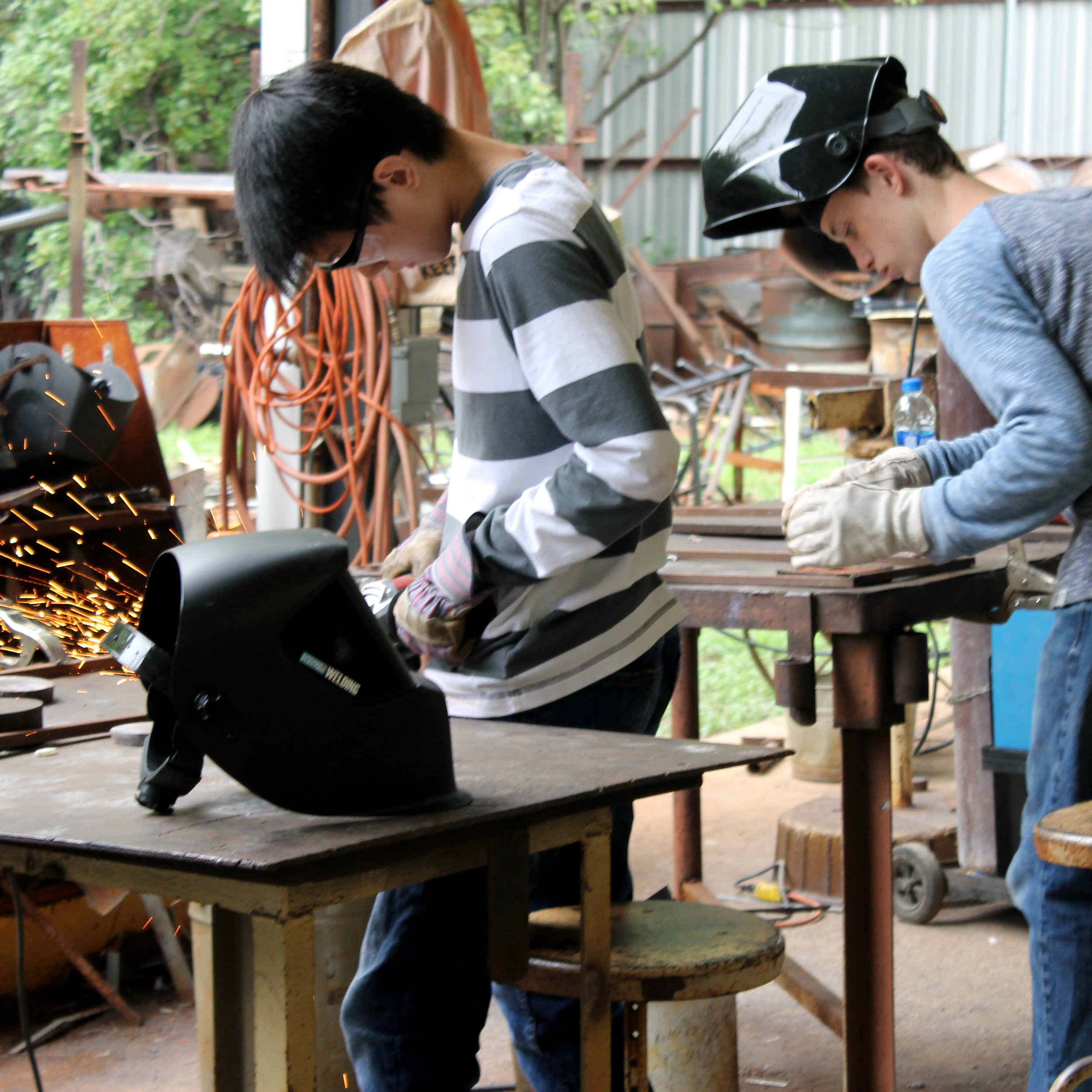 Camp Metalhead - Camp MetalHead is offered in the summer to underserved and at-risk teens ages 13 to 17, providing both relevant job skills training and quality arts instruction in welding and jewelry.