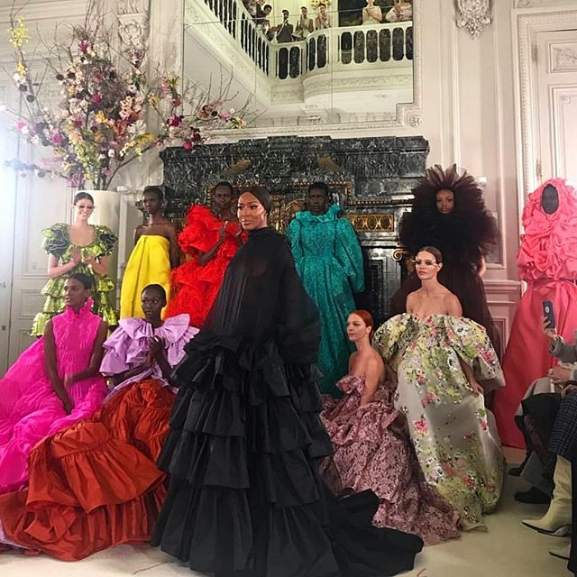 Some Fashion inspo from @maisonvalentino loving all the Bold colors for Spring 😍 #ValentinoHautecouture #Springsummer