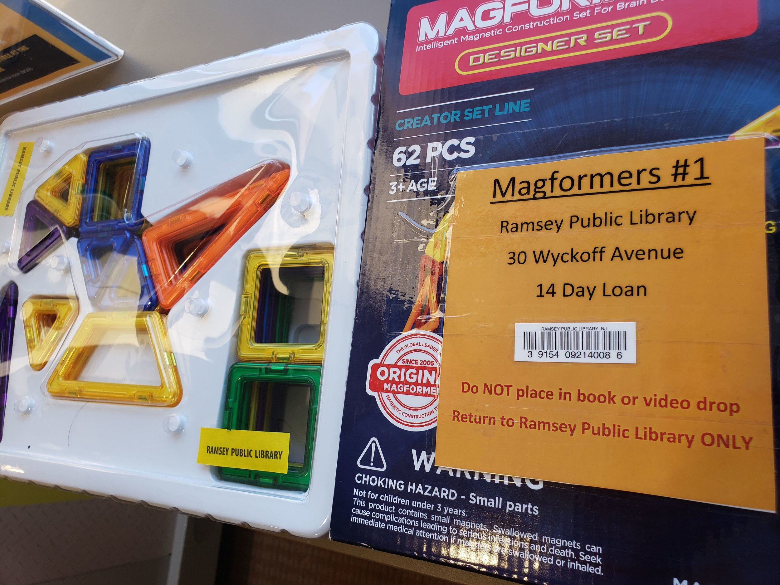 Borrow MAGFORMERS!   at the Kids Section of   The Ramsey Free Public Library    See Upcoming Events