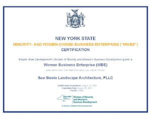 New York State WBE Certificate for Sue Steele Landscape Architecture, PLLC_Page_1.jpg