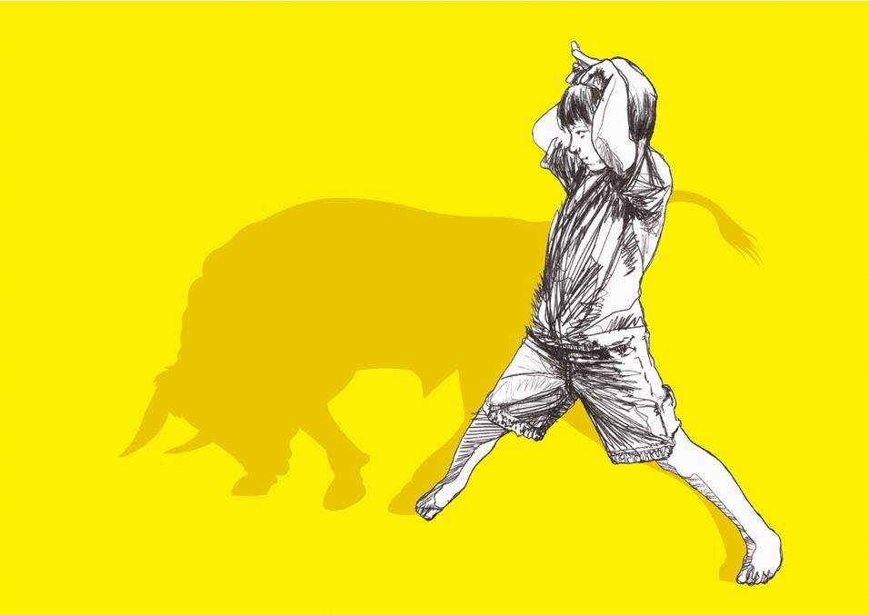 Bull Shadowplay,  illustration by Catboy (Suffolk, UK)