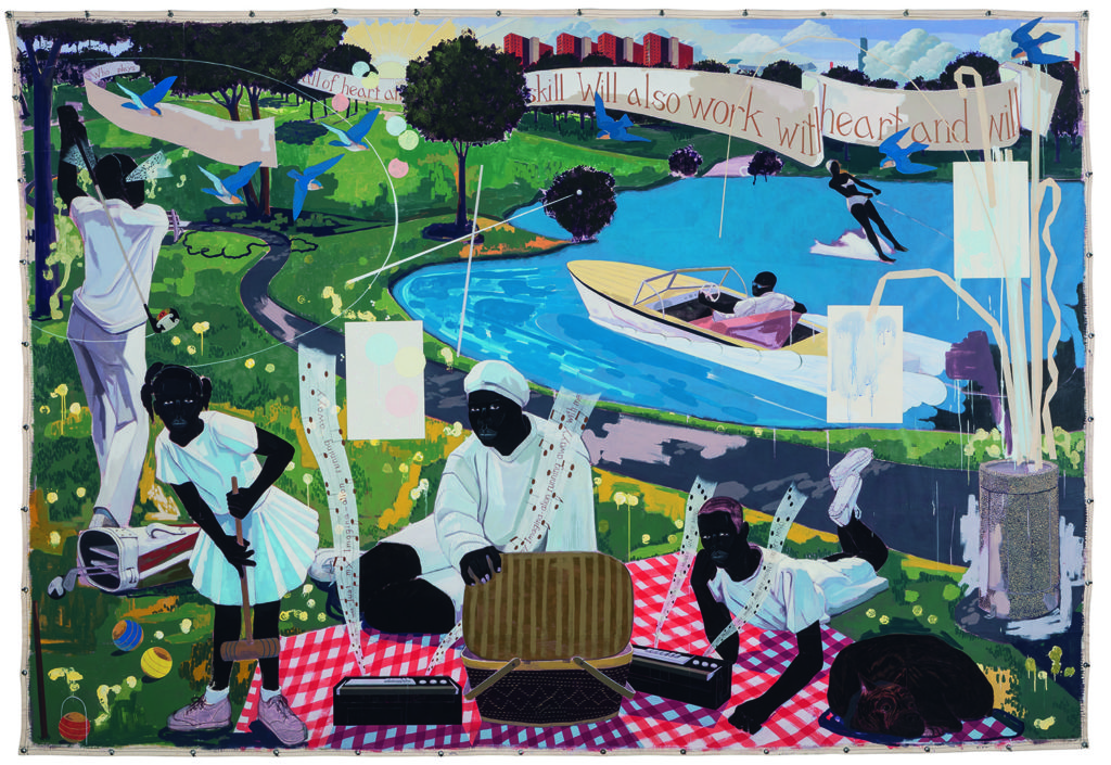 Kerry James Marshall's painting  Past Times  sold for $21.1 million at Sotheby's