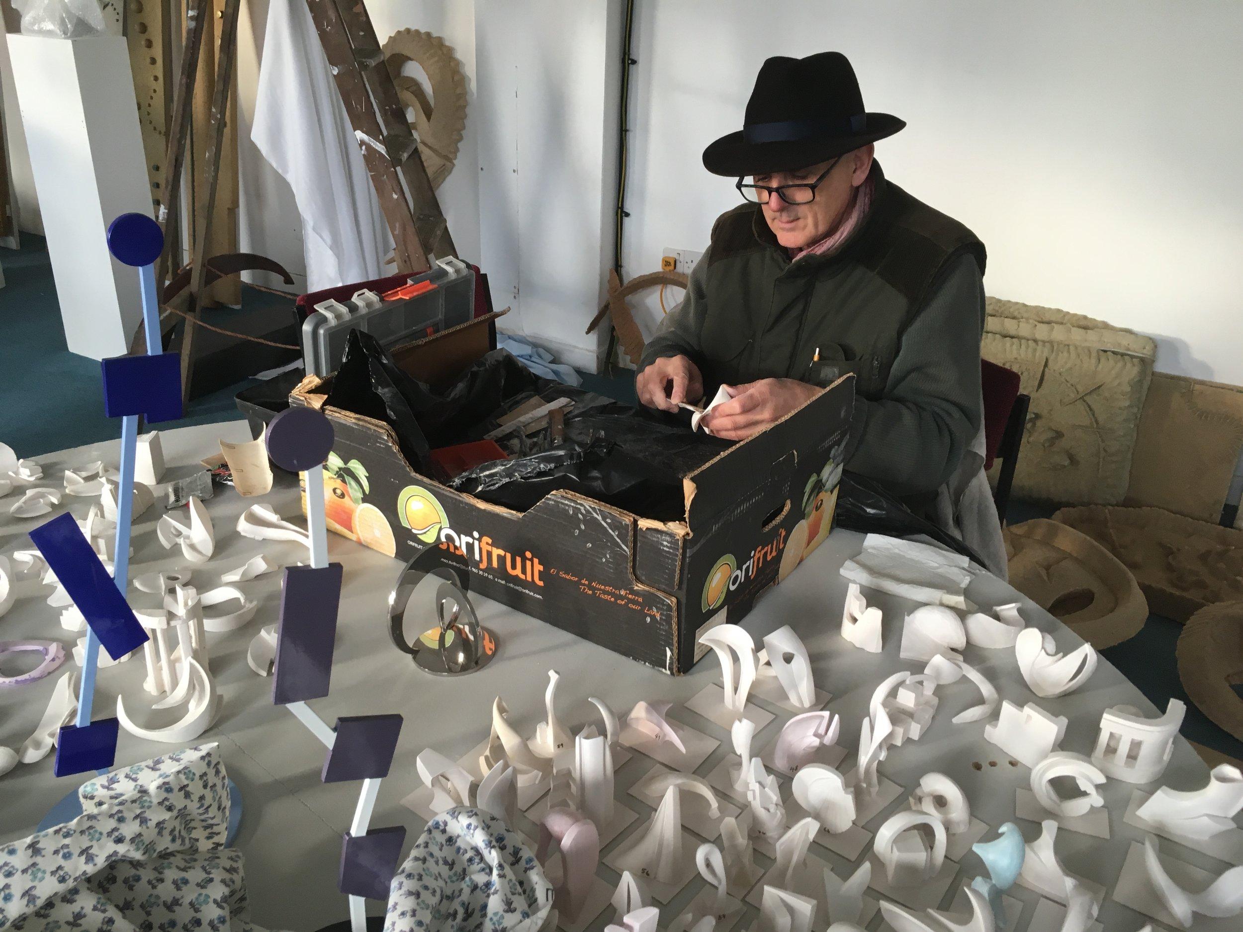 Patrick at work in his studio