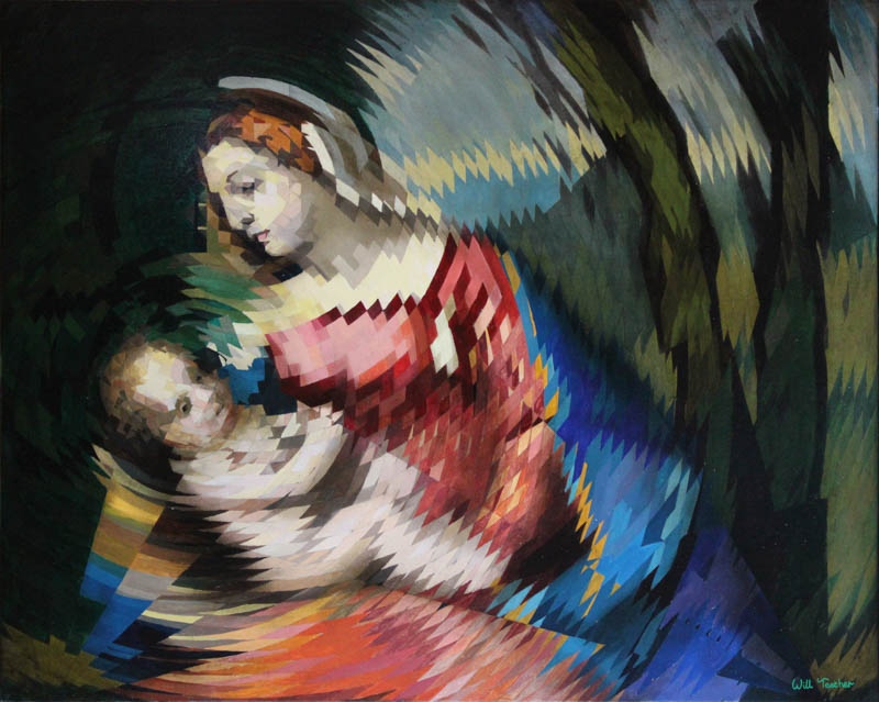 Madonna and Child (after Titian)  - Oil on canvas - 59.8cm x 74.85cm - £4250