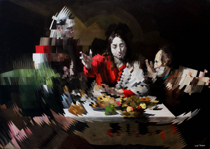 The Supper at Emmaus (after Caravaggio)  - Oil on canvas - 107cm x 76cm - £7500