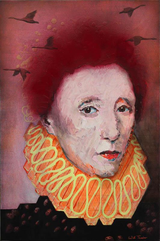 Elizabeth 1  - Oil on canvas - 50.5 x 76cm - £2500