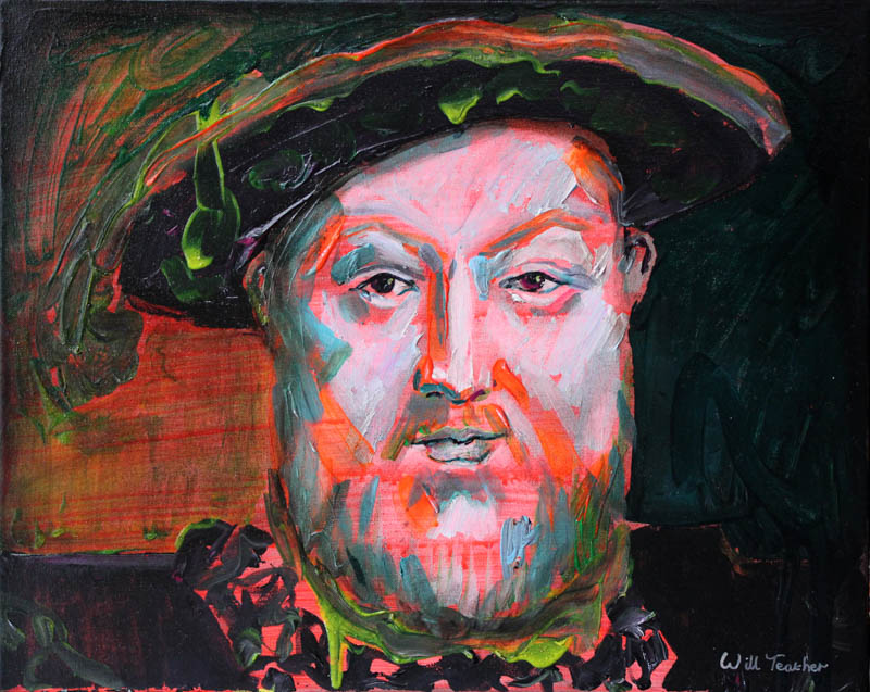 King Henry VIII (after Holbein)  - Oil on canvas - 40.5 x 51cm - £575