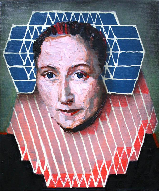 Portrait of Gillina van Vlierden (after Geldorp)  - Oil on canvas - 30 x 25cm - £475