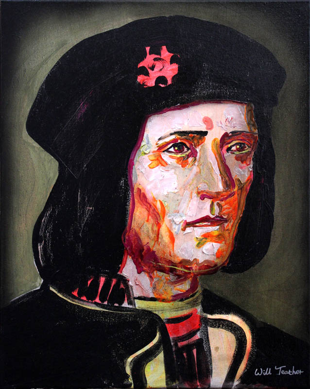 Richard III  - Oil on canvas - 40.5 x 50.7cm - £575