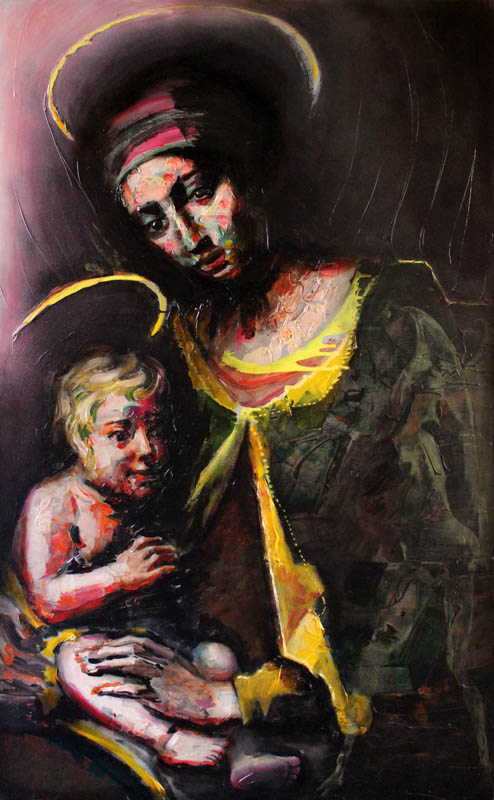 The Madonna and Child (after Balassi)  - Oil on canvas - 100 x 162cm - £5000