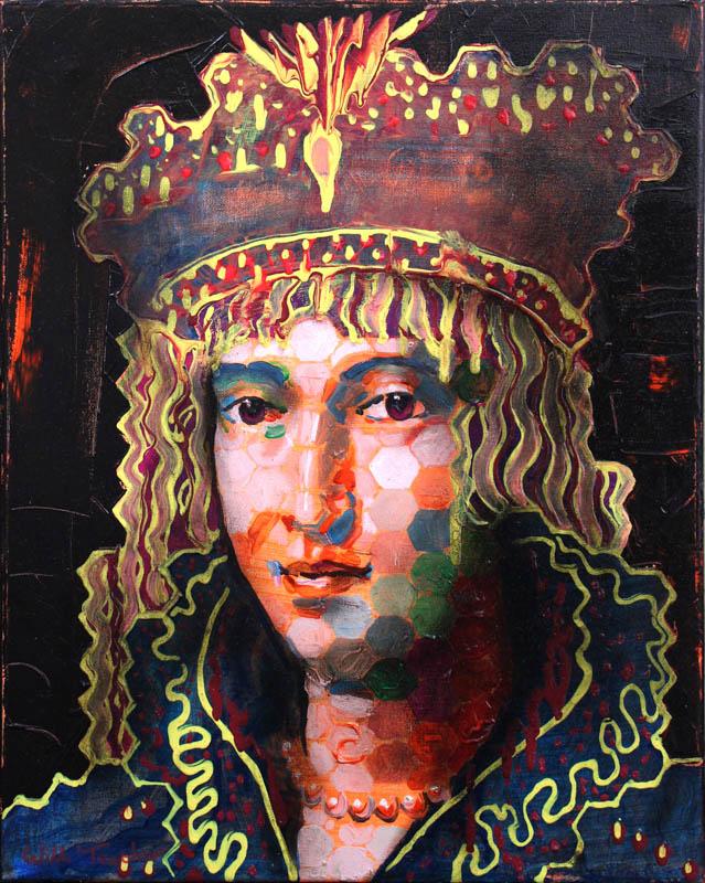 Virginia De' Medici (after Ligozzi)  - Oil on canvas - 40.5 x 50.7cm - £675
