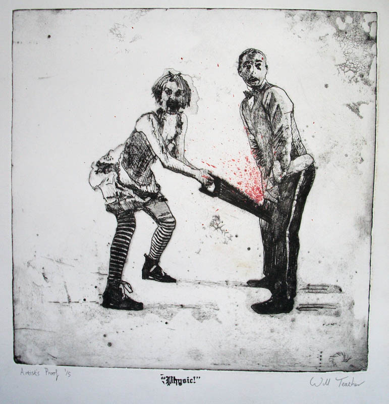 Physic!  - Etching - 30 x 35cm - £275 framed