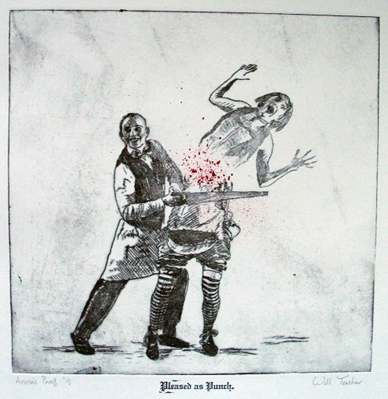Pleased_as_Punch  - Etching - 30 x 35cm - £275 framed