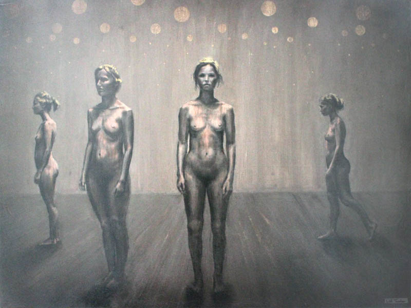 Dartington Dance studios  - Oil and acrylic on canvas - £3750