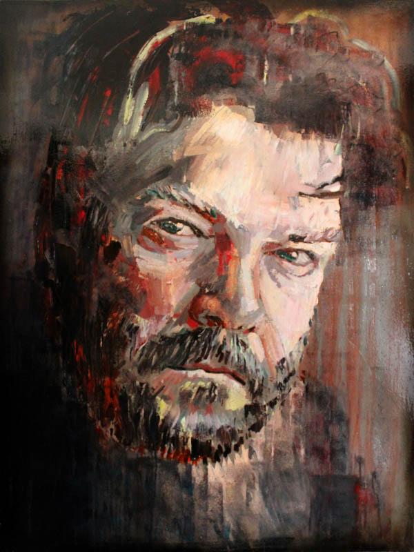 Self portrait  - Oil on canvas - 121 x 91cm - £3500