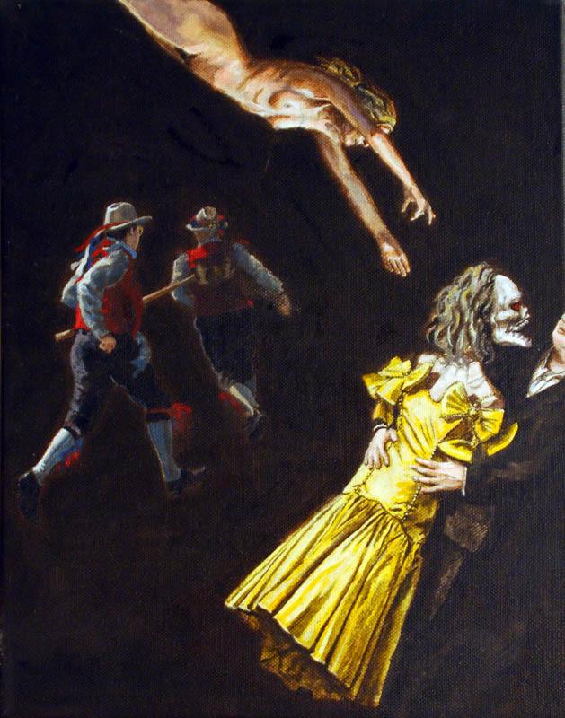 The Act  - Acrylic on canvas - 28 x 35.5cm - £750