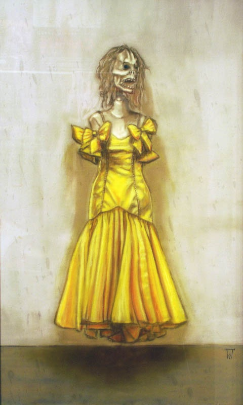 Apparition  - Pastel on velour - 40 x 65cm - £575