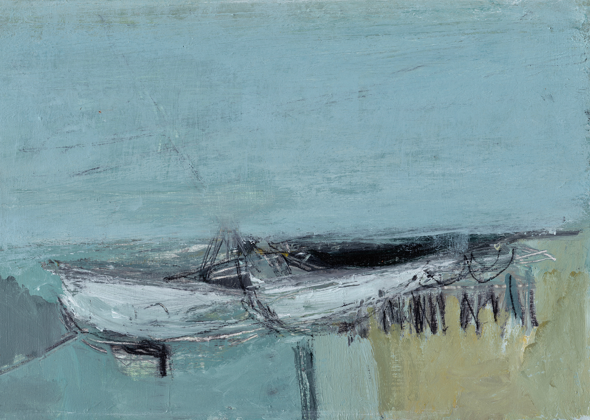 Silent Tides Turn  (2018) | 29.6cm x 20cm, mixed media on panel, sold