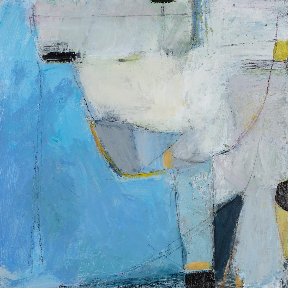 Vigilant Spaces  (2018) | 30cm square, mixed media on panel, £425